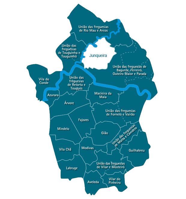 Mapa do Concelho de Vila do Conde